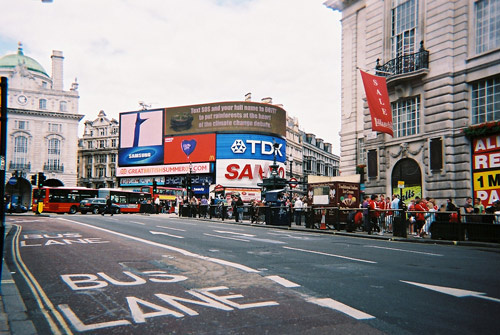 Piccadilly Circus July 2009 by Alison Gracie