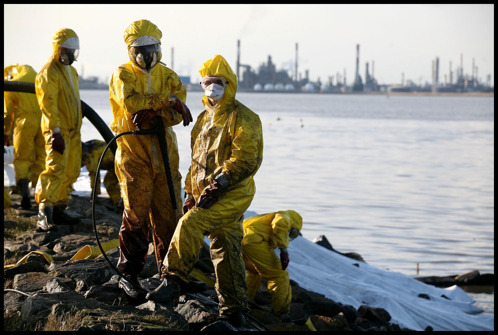Marée noire: Dépollution des berges de la Loire