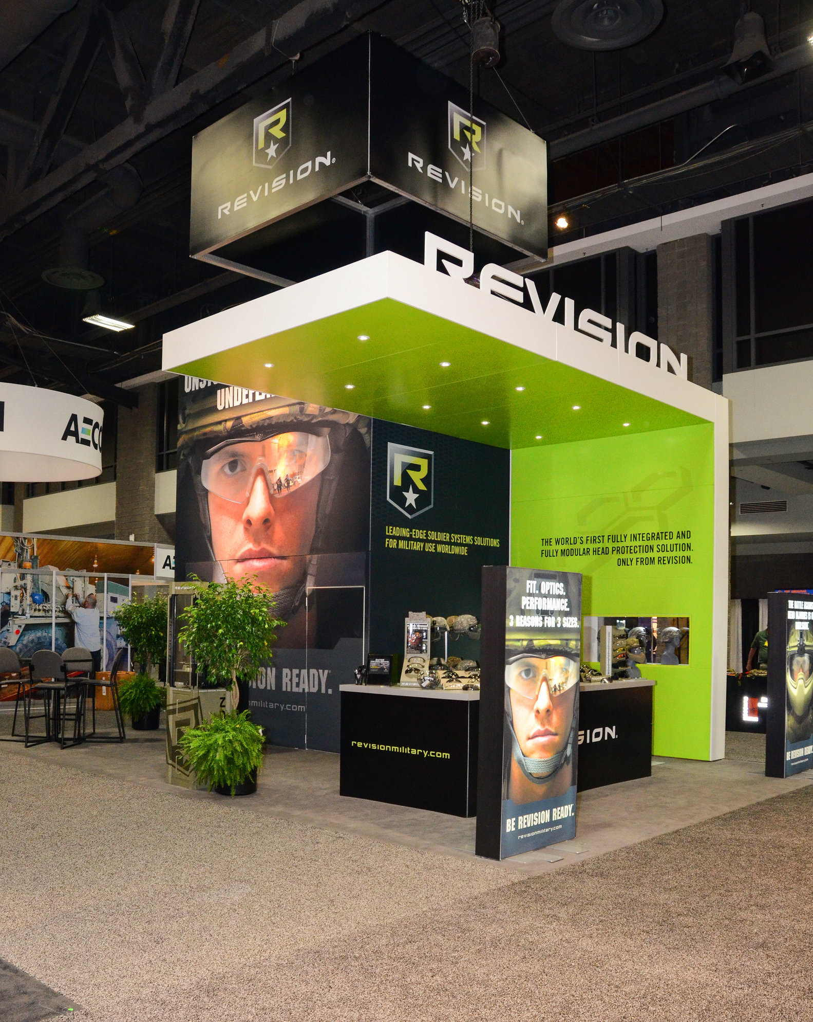 Revision Military: Photography for trade show booth