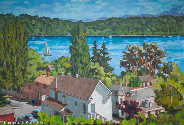 May Afternoon Over Burton and Governors' Lane (Vashon)