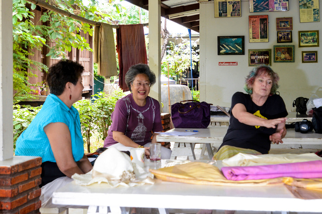 Léa discusses sericulture & village self-sufficiency