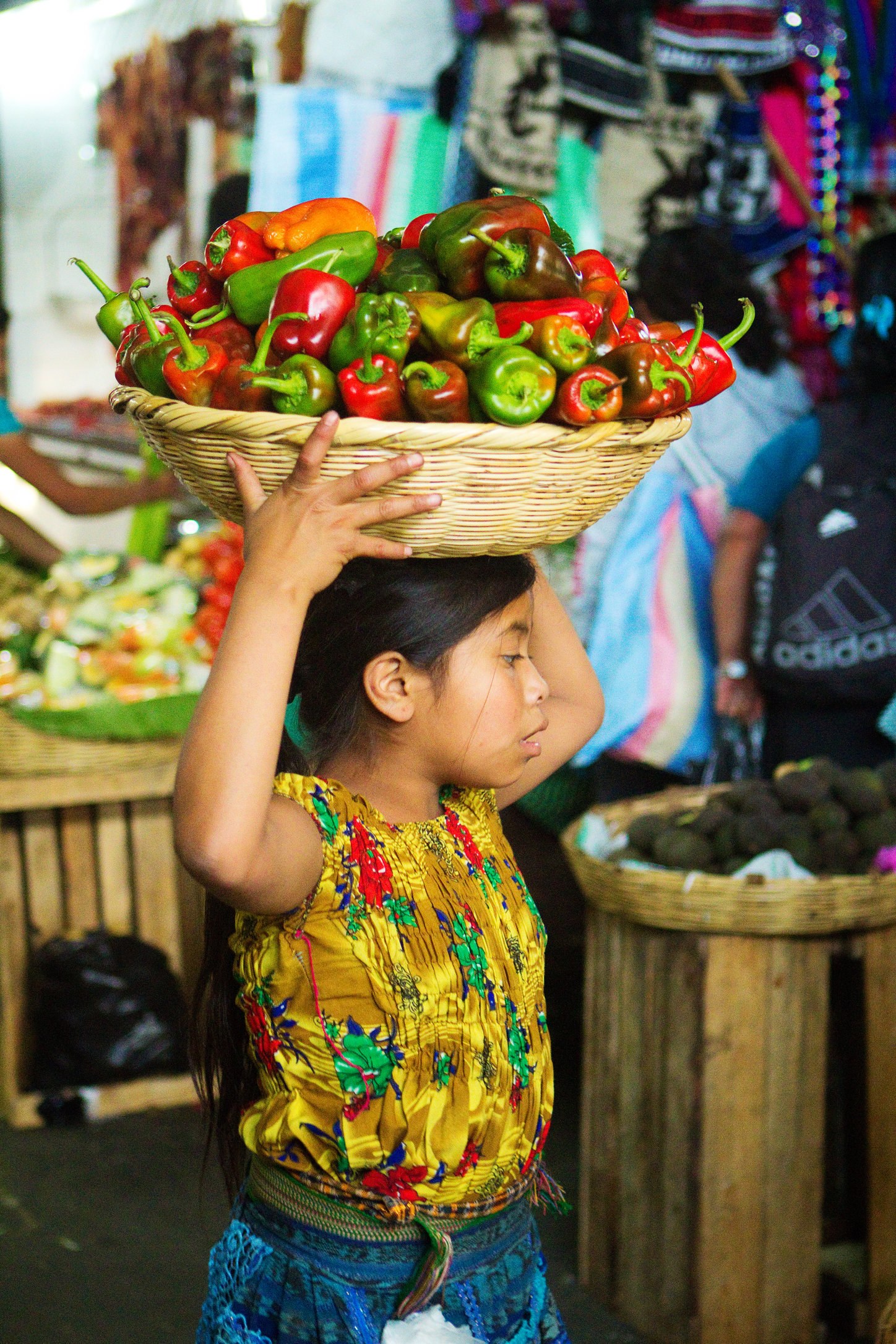 Child with chilies