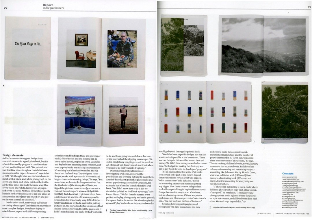 BRITISH JOURNAL OF PHOTOGRAPHY, 01.2012