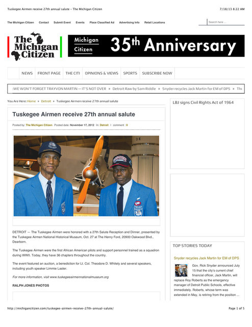 "Preview of ""Tuskegee Airmen receive 27th annual salute – The Michigan Citizen"".jpg"