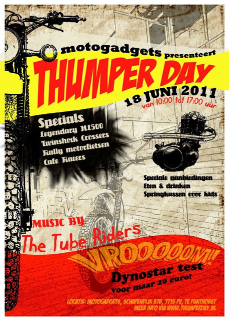 Flyer for Thumperday by motogadgets