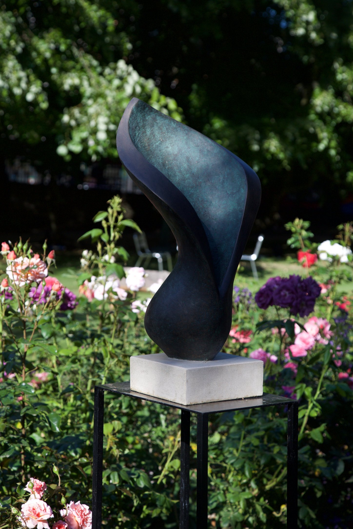 Arum Lilly 1995/2015   65 x 23 x 20cm  Bronze Resin    RP £1950  Oxford festival of the Arts 2015