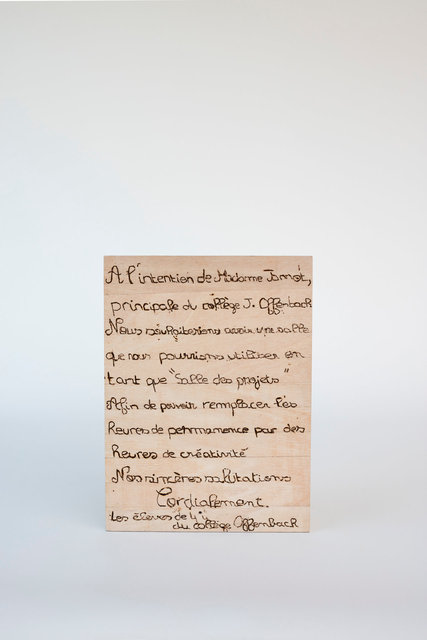 "Lettre ""Salle des projets"" - Collège Offenbach"