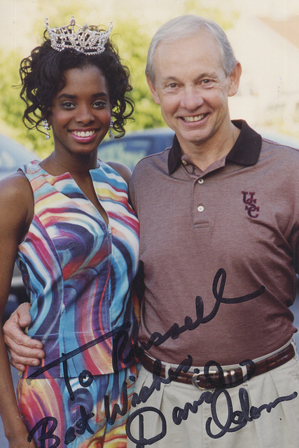 DANIELLE WILSON - MISS SC TEEN, DAVE ODUM-USC BASKETBALLCOACH.  He was also a HALL OF FAME COACH OF THE YEAR during his long career.