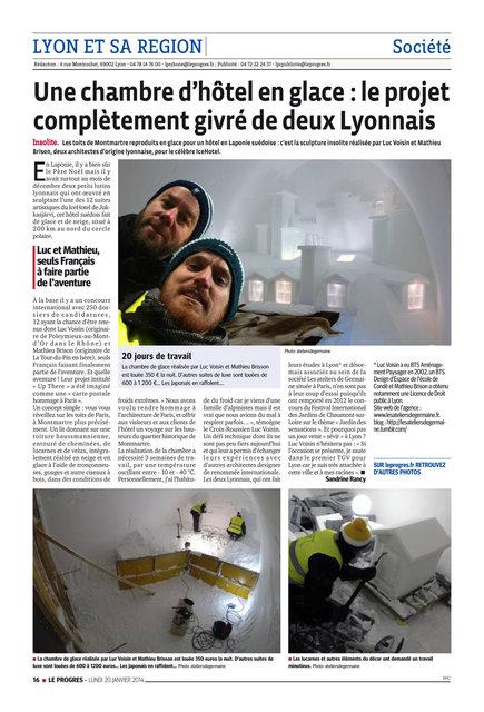 LE PROGRES - 20/01/14