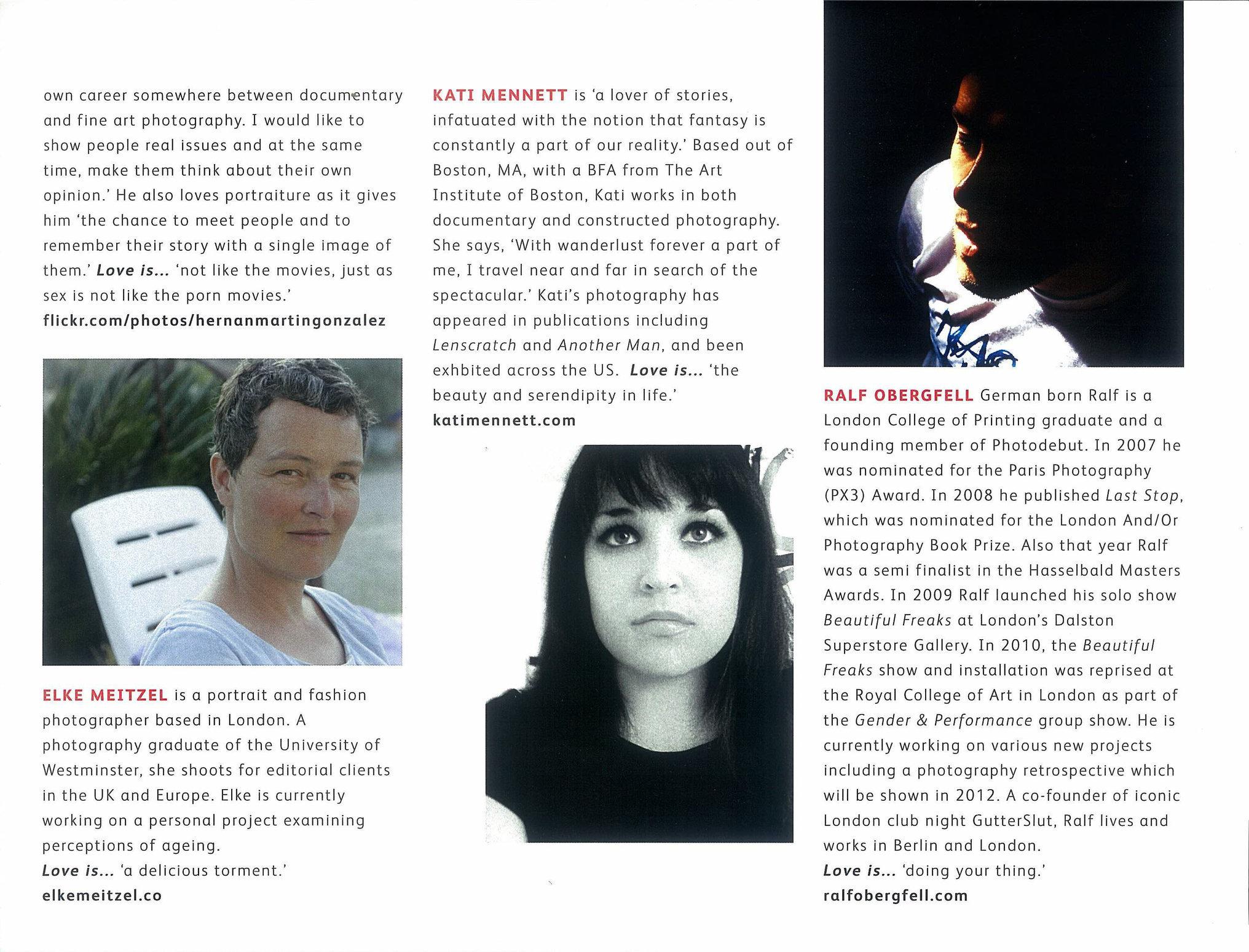 dayfour - Modern Love, #9, ''Contributers''.tif