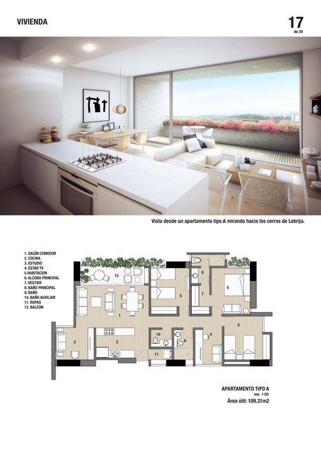 Vista interior de apartamento / Insde view of apartament