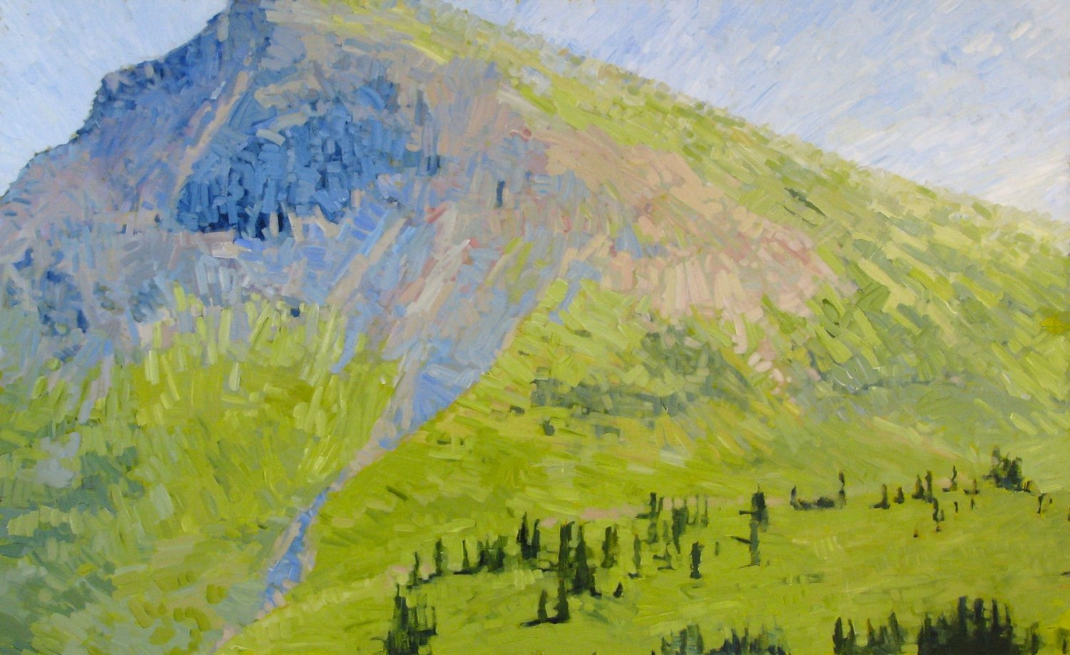 West Maroon Pass #1, 2014, Acrylic on Canvas, 36 x 60 in. (NLA)
