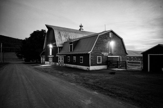Red Barn at dusk, Craryville, New York