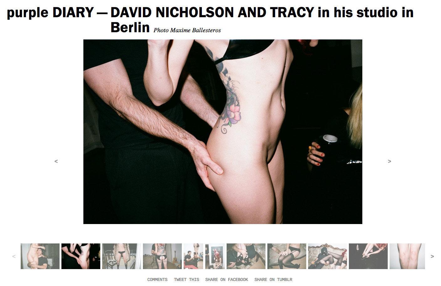 purple DIARY   DAVID NICHOLSON AND TRACY in his studio in Berlin.jpg