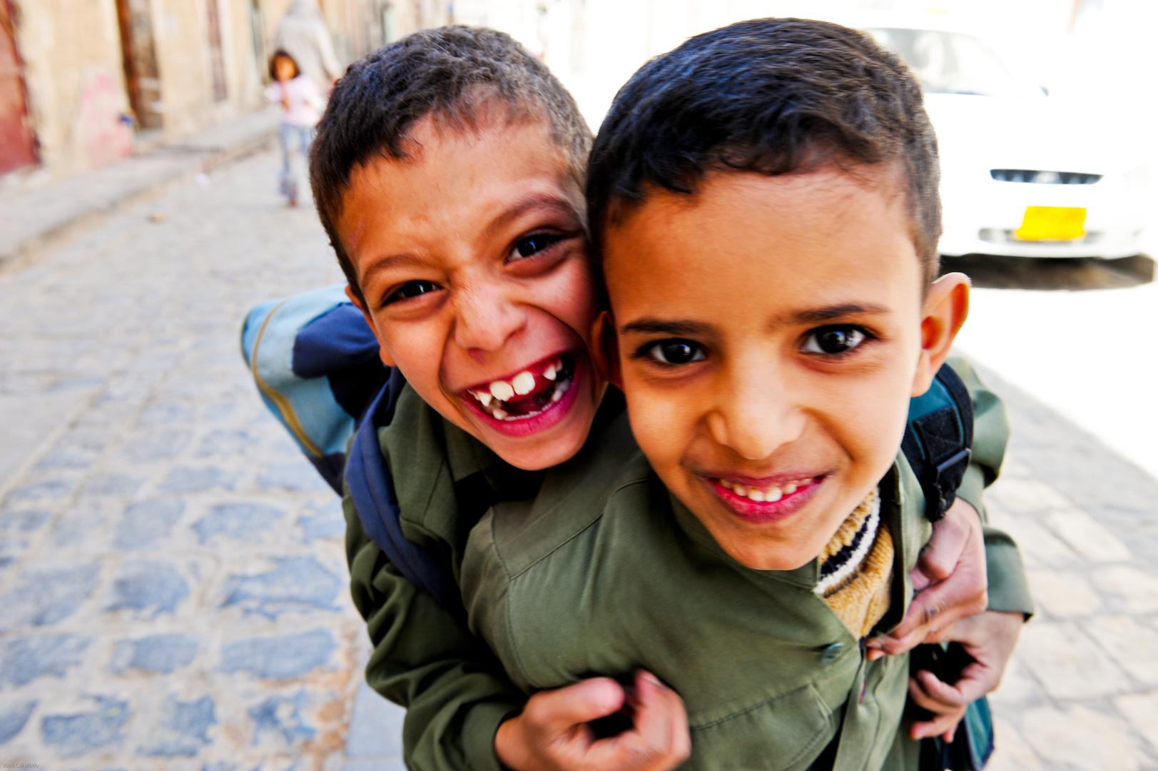 Yemeni school boys