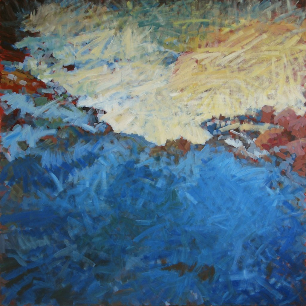 Changing Water at Avalanche Creek, 2013, Acrylic on Canvas, 72 x 72 in.