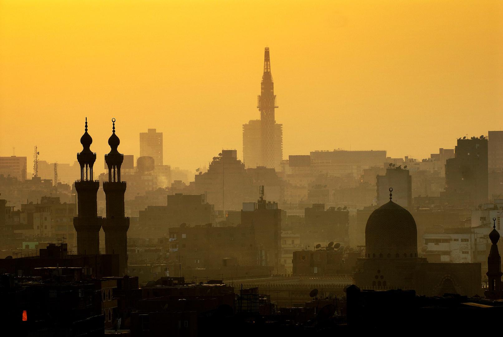 Cairo in een permanente smog voor Residence