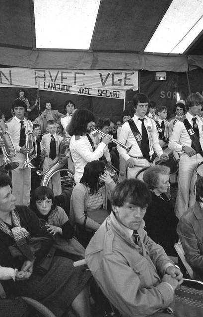 """""""Languidic avec Giscard"""", campagne présidentiele de 1980, Lorient"""