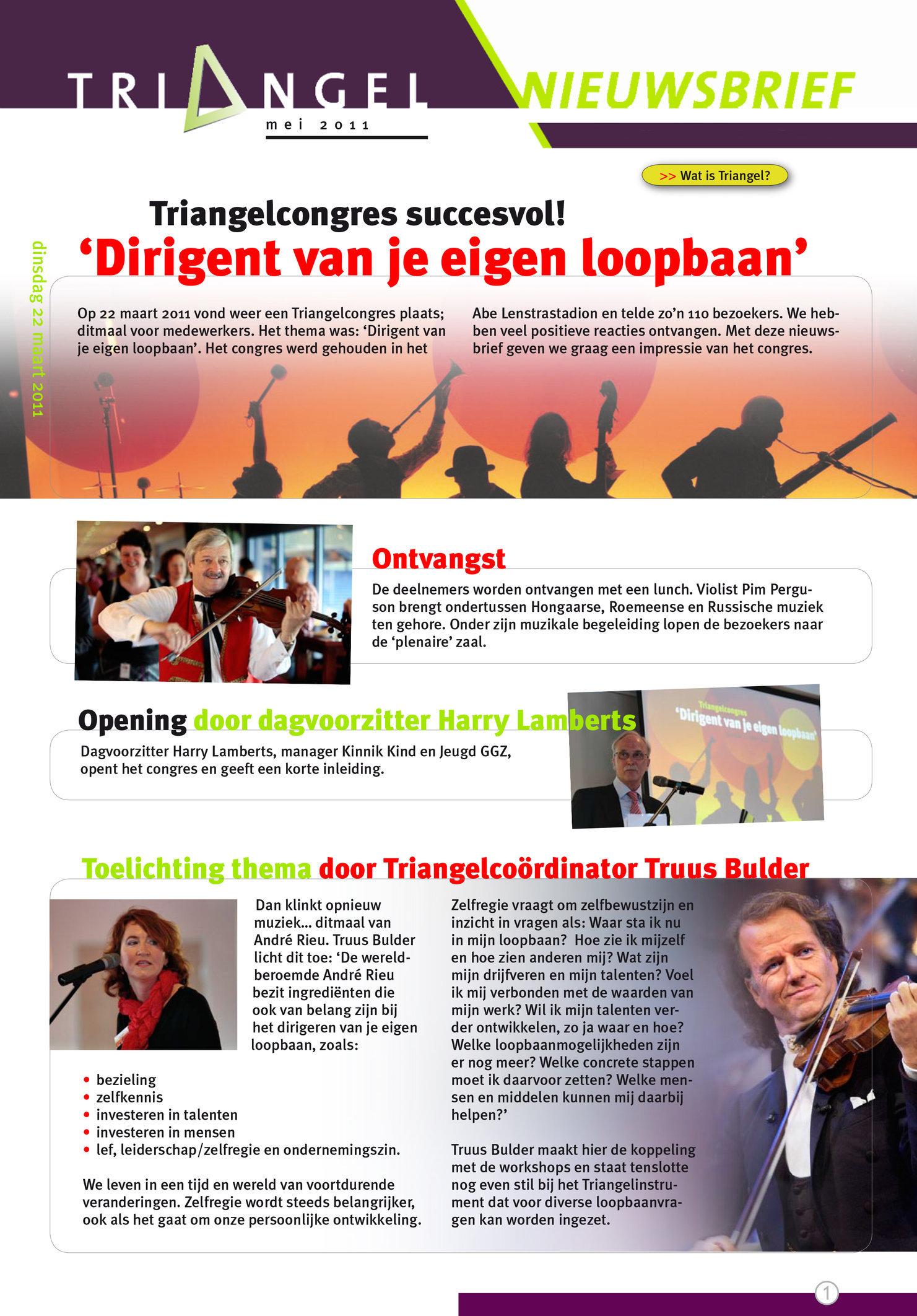 Triangel Nieuwsbrief 2011