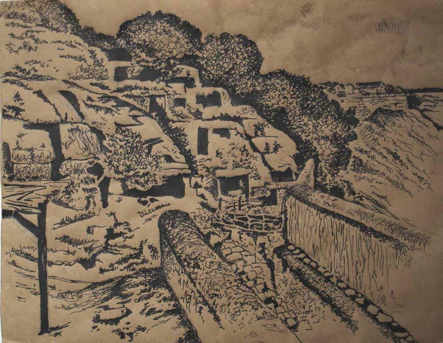 Jaskinia Czufut kale tusz karton