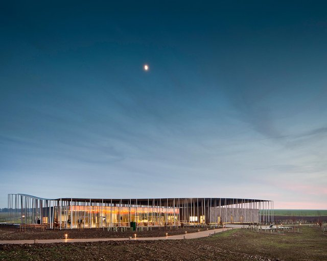 Stonehenge Visitor Centre, Denton, Corker Marshall Architects.