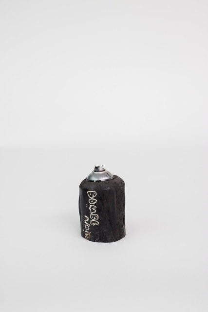 Bombe de peinture noire - Collège Politzer