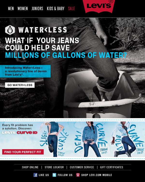 Levis / Waterless Jeans Email