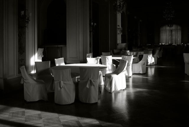 White Covers on Empty Chairs