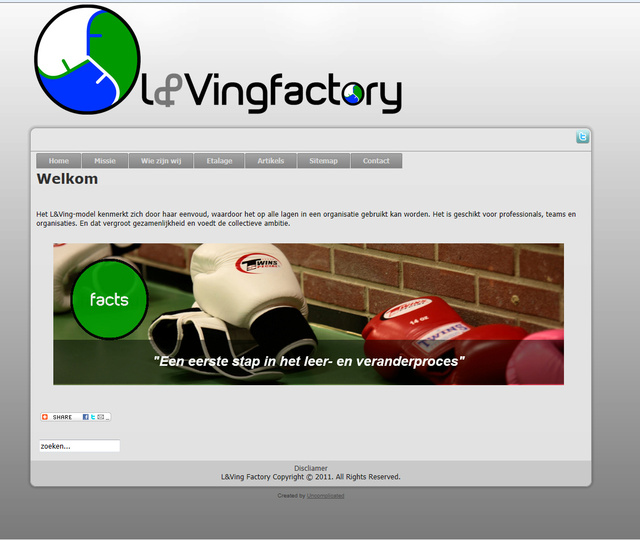 Webdesign for L&Vingfactory
