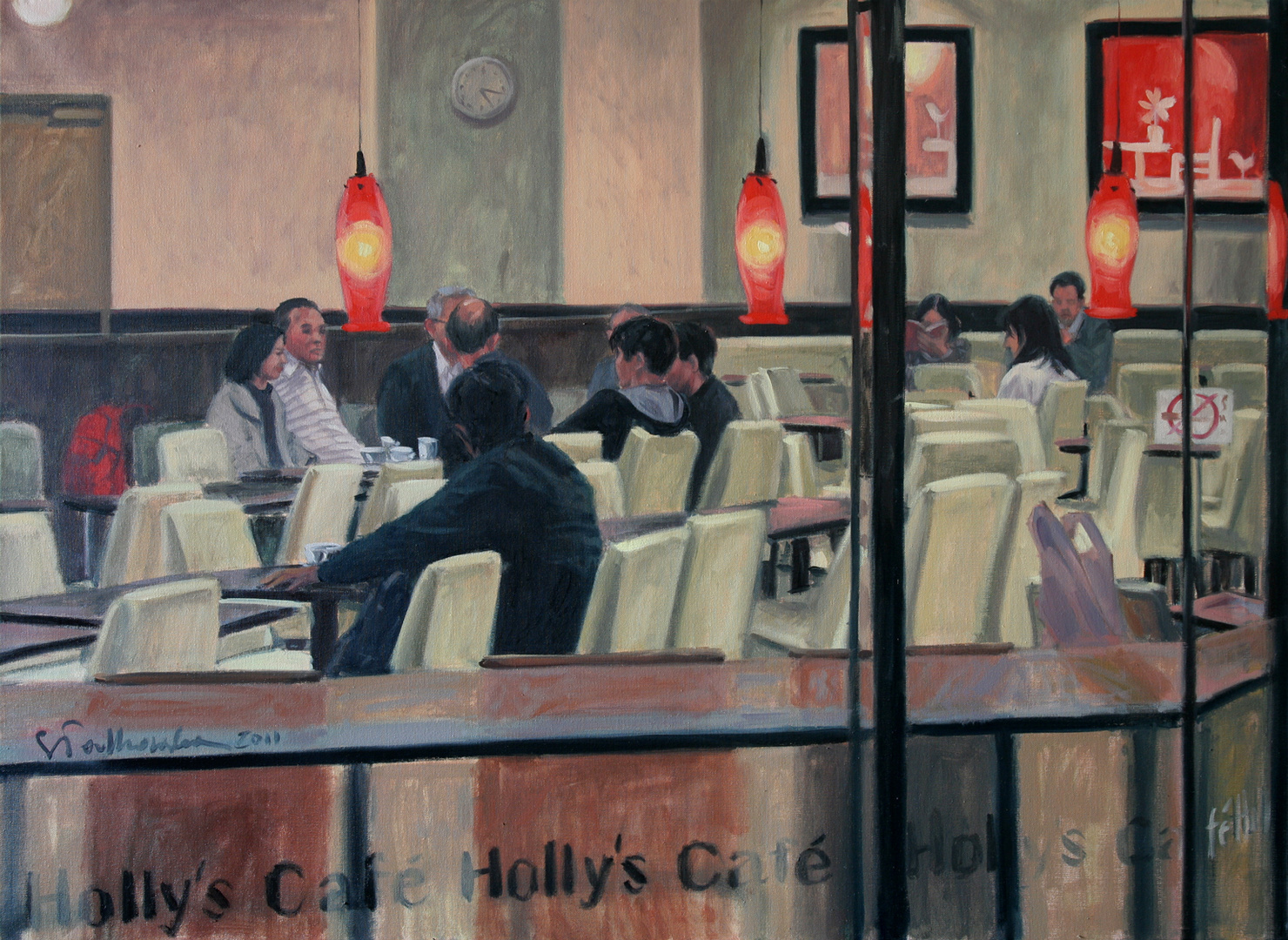 Holly's Cafe, 100x73 olej płótno 2011