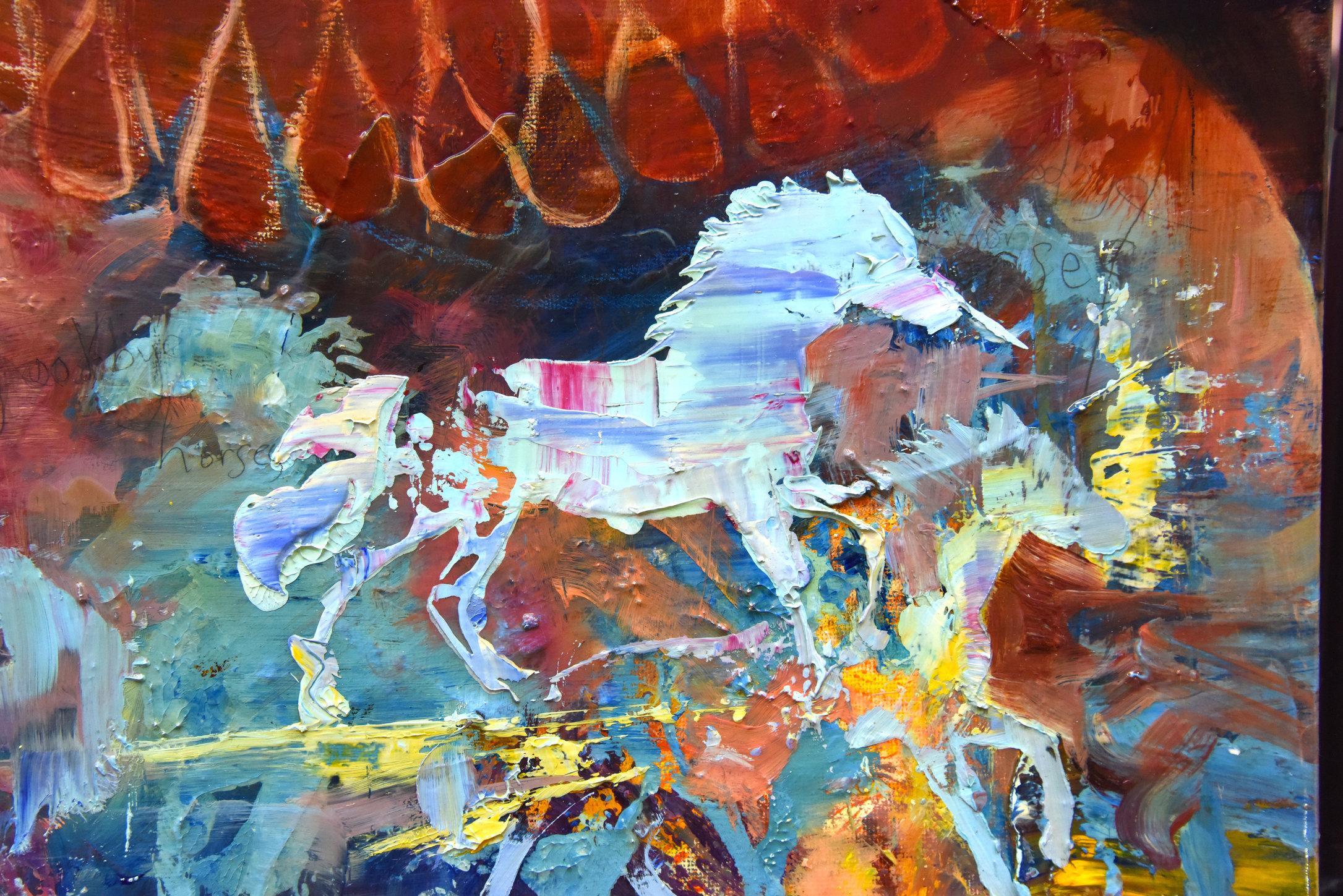 (Detail) Goodbye Horses (Blue I)