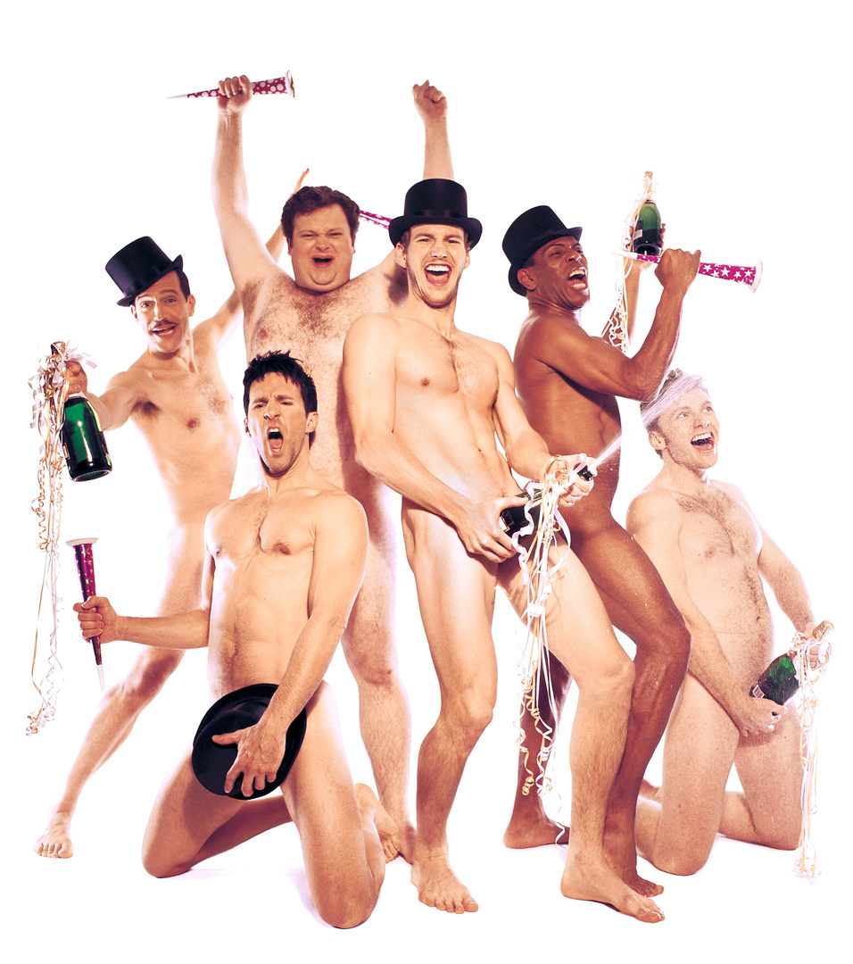 Patrick Wilson & the cast of The Full Monty on Broadway
