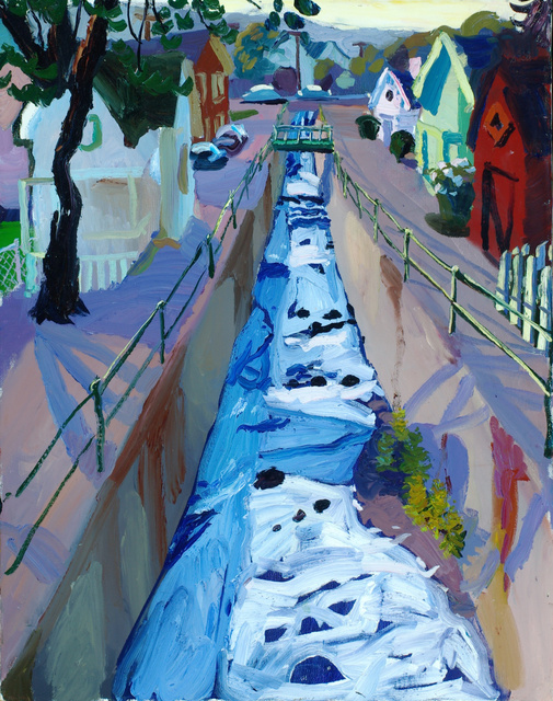 Cascadilla Creek, Ithaca, 30x24 sold""