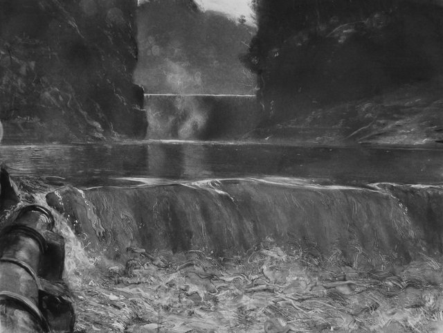 "Ithaca Reservoir       14 x 20"""