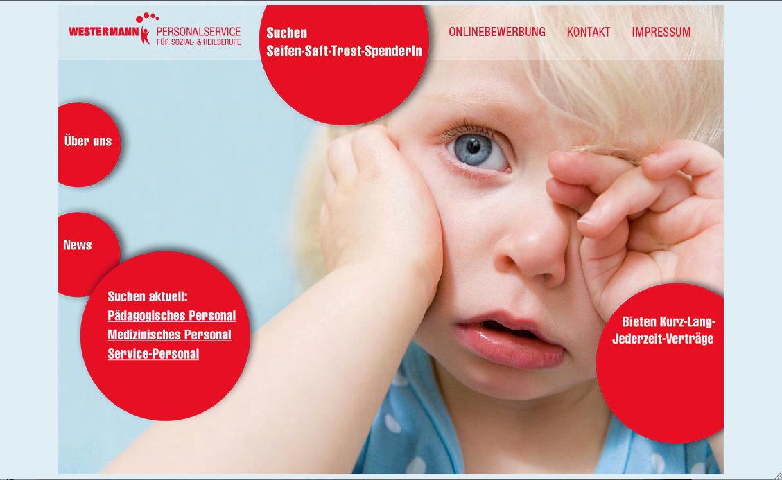 Westermann Personalservice / Website