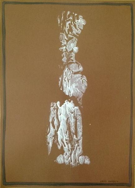Postać, 50x70 akryl papier