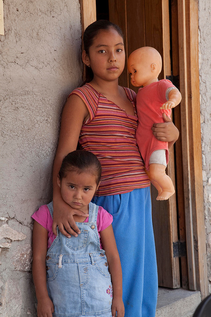 Sisters with Doll, Mexico