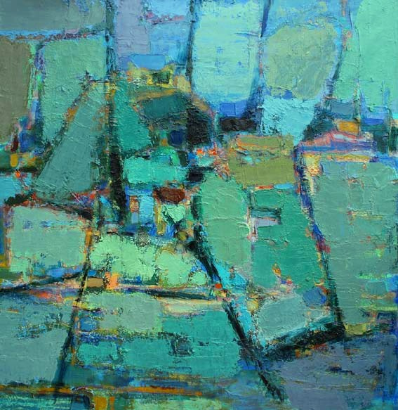 'Fields from above' oil on canvas  90X90cm  2008