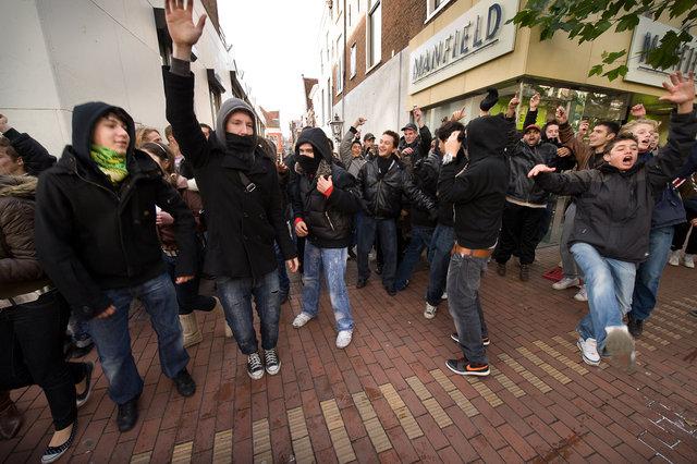 scholieren protest
