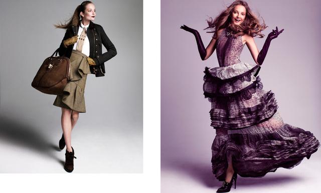 Harper's Bazaar. Eniko Mihalik. War and Peace, September 2012