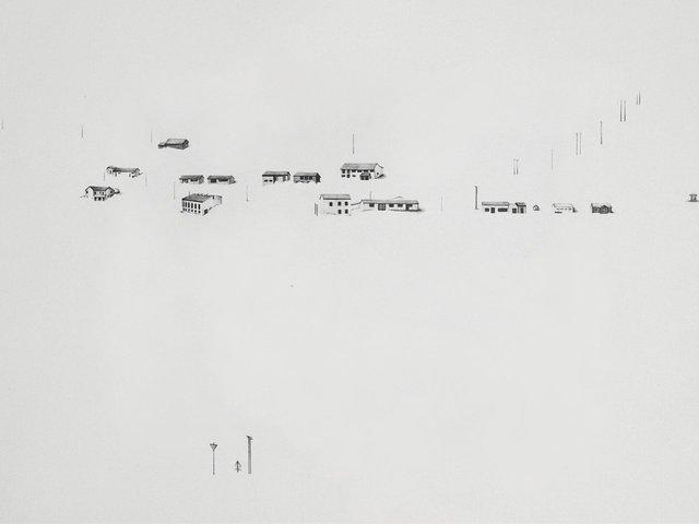 "Icelandscape 4, 2008, graphite on paper, 12 x 16"""