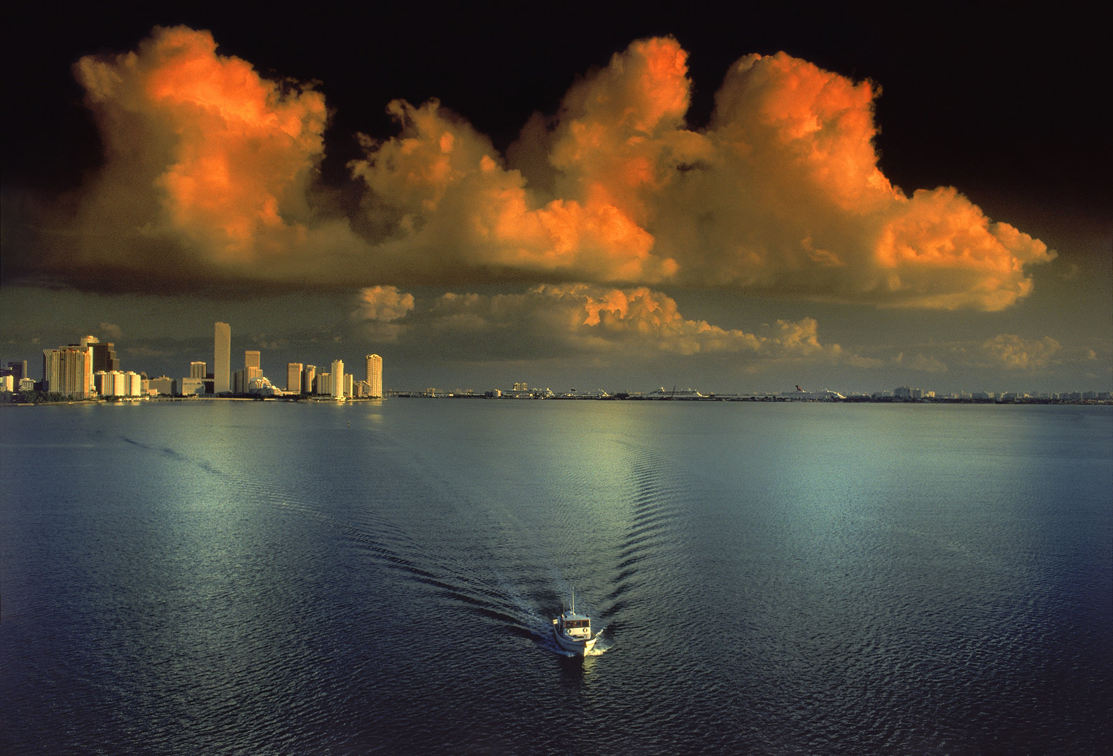 Miami from Key Biscayne Bridge<br>Kodachrome