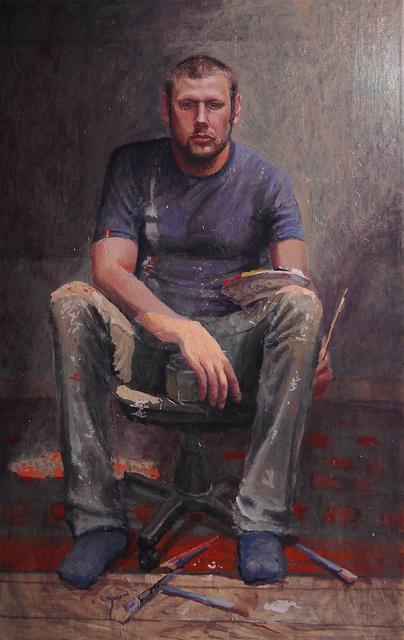 autoportret, 120x80, olej płótno