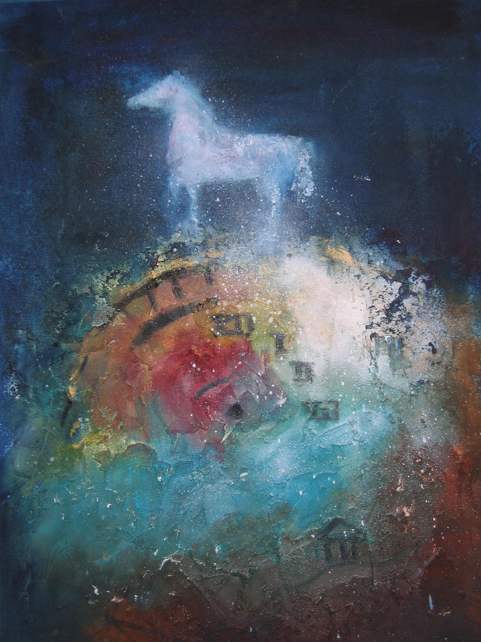 Het witte paard olieverf op paneel 50 x75.jpg