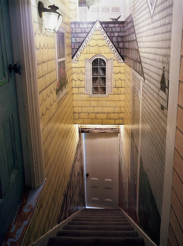 Untitled Interior (house stairway), 2012