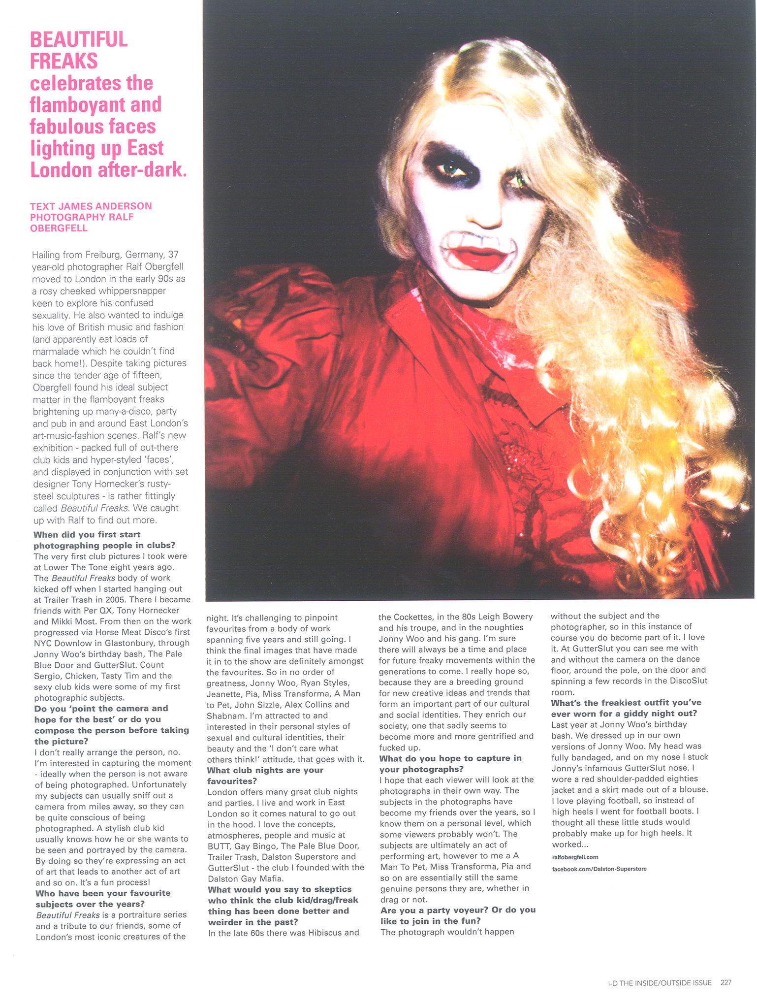 I-D Magazine, Fall 2009, #303, ''Beautiful Freaks''.jpg