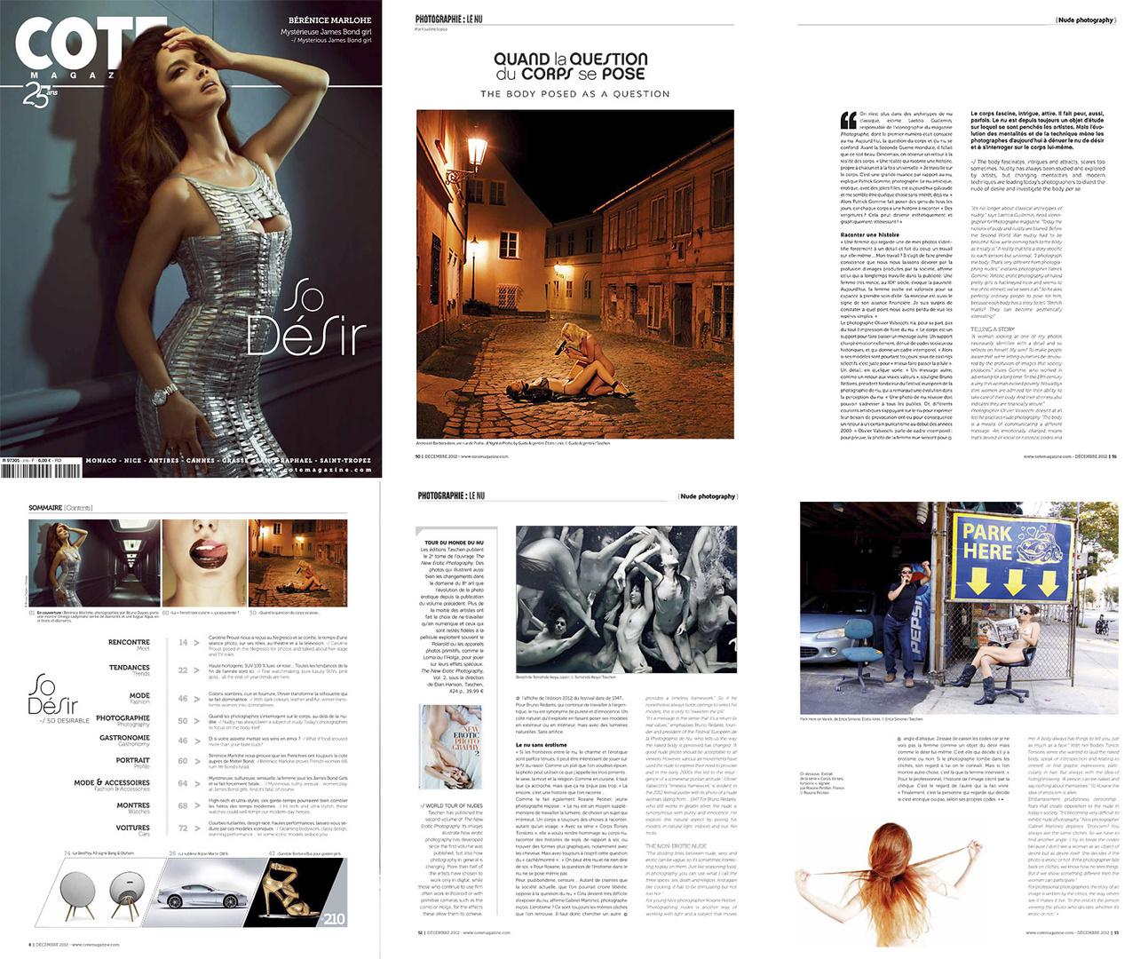 Cote magazine, déc. 2012