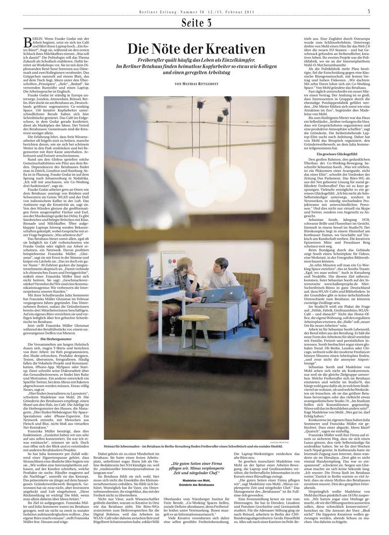 Berliner Zeitung 12.02.2011