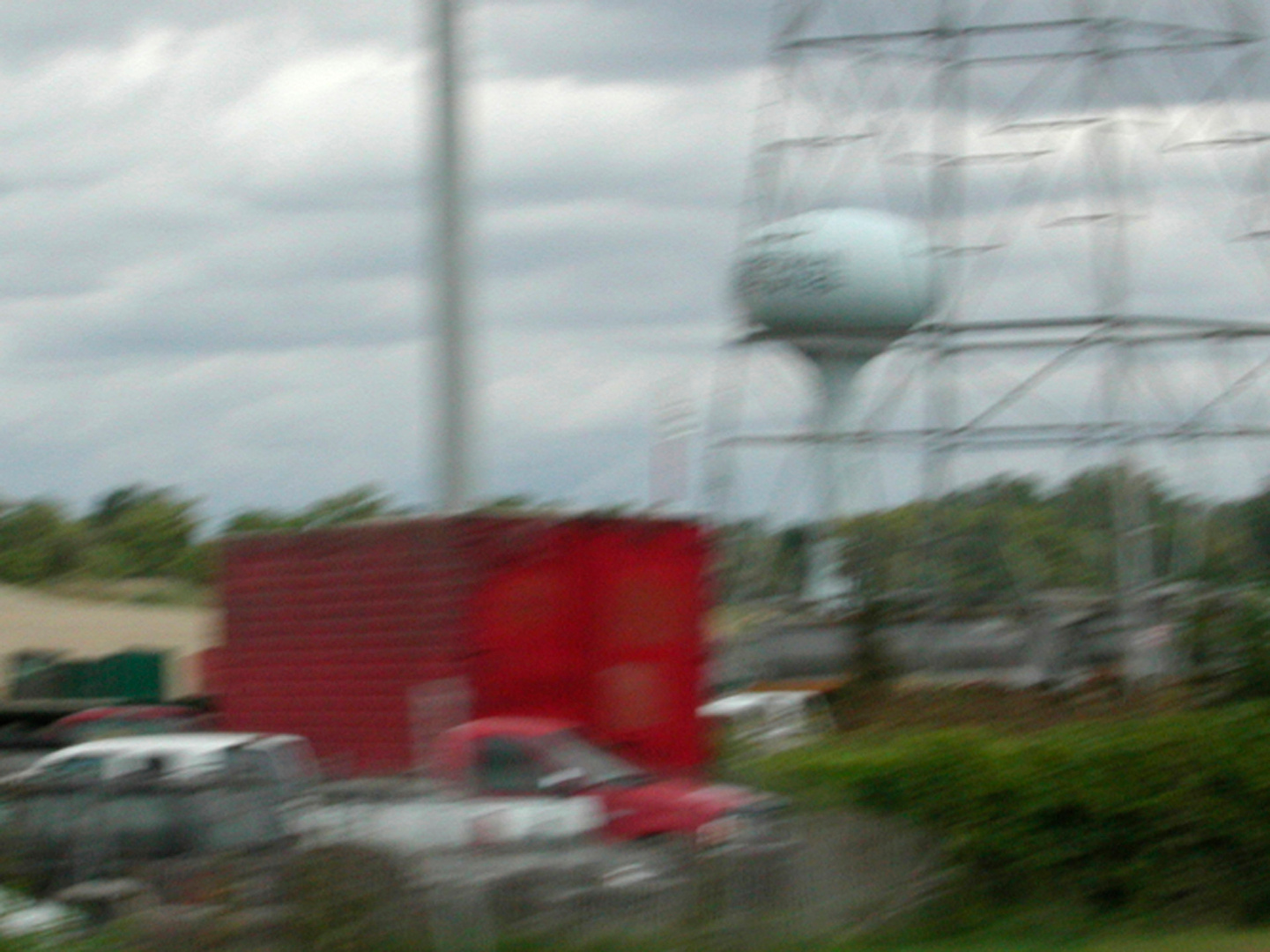 Tower and Red Truck