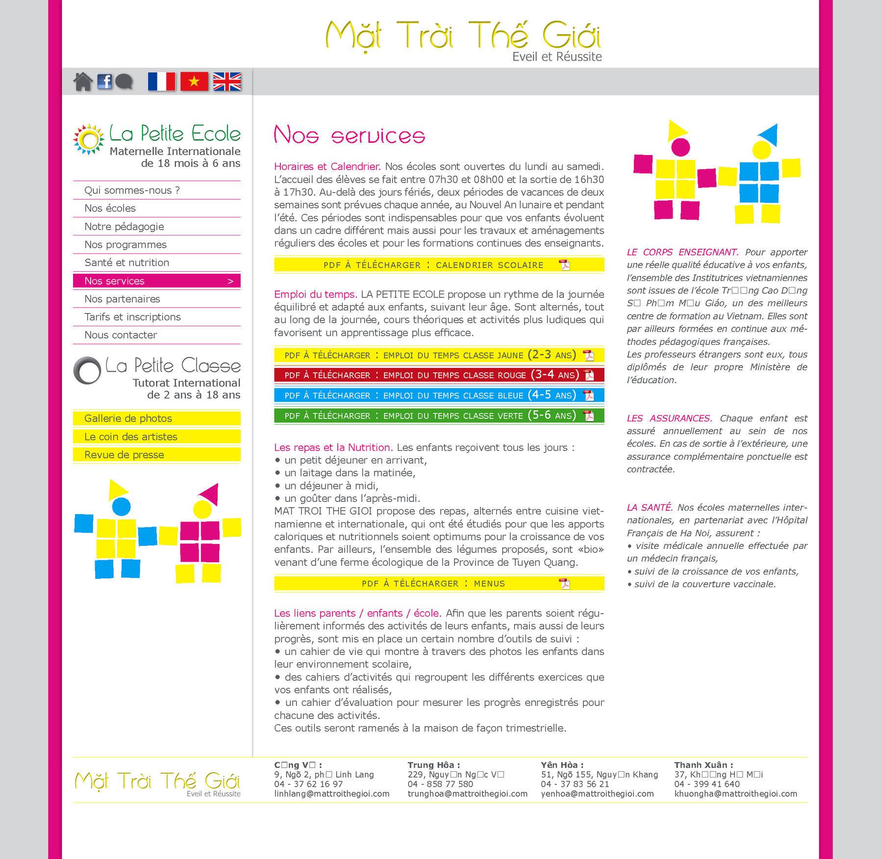 """<font color=""""#aaa7a6"""">Presentation des services.</font>"""